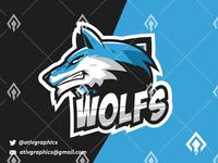 Wolfs Mascot Esport Logo