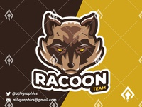 Racoon Mascot Esport Logo