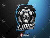 Lions Esport Team Mascot Logo