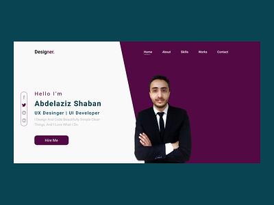 dribble shot frontend landing page portfolio web design design uidesign uxdesign