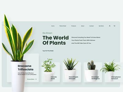 Plants UI  Landing Page flowers plants uxui landing page uidesign ui uxdesign web design ux ui  ux uiux design