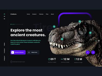 Virtual Museum dinsoar virtual museum ui uxdesign ux uiux uidesign design web design us
