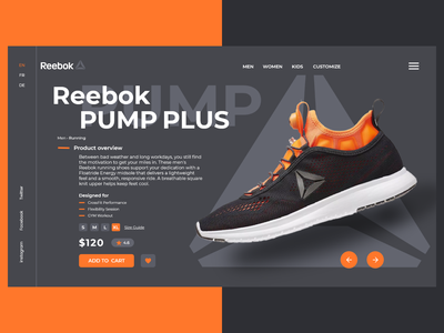 Reebok ✨👟🤩 addids nike sport running sinkers reebok shose figma xd uxdesign ux uiux ui uidesign design web design