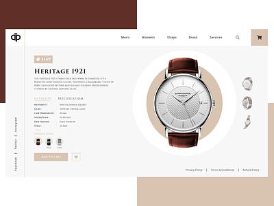 Ambassador ⌚❤🤩 landing page landing creative uidesigner dribble shot ambassador watches figma xd uxdesign web design design ui uidesign ux uiux