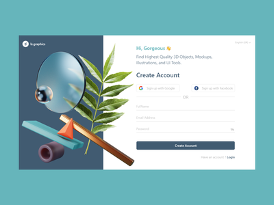Sign up Page✨🎉😍 3d objects 3d sign up page sign up ux uxdesign uiux uidesign design web design ui