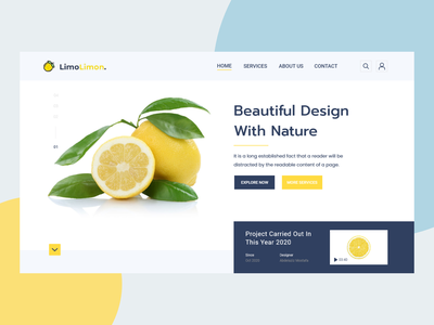 Web UI Design Adobe XD | Landing Page Design ✨🎉😍 creative landing page limon figma xd uxdesign uiux ux uidesign design web design ui