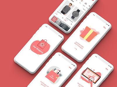 Star Shopping ios App for Fashion onboarding walk through shopping shop commerce e-commerce mobile app app uxdesign ui ux uiux uidesign design web design