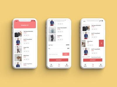E-commerce Mobile Shopping cart screen ✨🎉😍 cart ios mobile shopping shop e-commerce illustration uxdesign ux uiux uidesign ui design web design