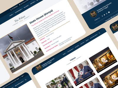 Embassy of the Republic of Kenya in Egypt ✨🎉❤ website landing page figma xd kenya cairo politics embassy web design ux illustration design uxdesign uiux ui uidesign