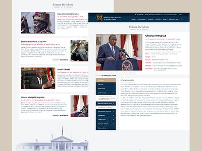 Embassy of the Republic of Kenya in Egypt ✨🎉❤ official website landing figma xd politics egypt cairo kenya illustration design web design uxdesign ux uiux uidesign ui