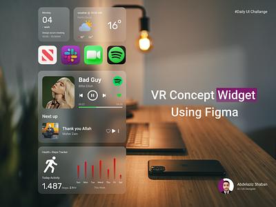VR Concept widget using adobe xd Animation || Figma ✨❤🎉 figma health tracker vr ar widget ios design web design uxdesign ux uiux uidesign 3d animation ui