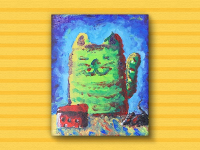 Meow Cat cat illustration cheese mouse paint
