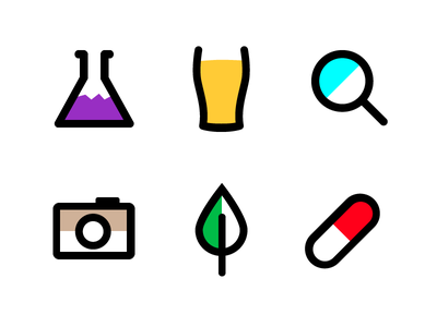 Random Icons icons line colour