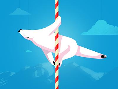 Pole-ar-bear illustration bear pole