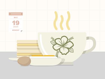 Kaya Toast illustration