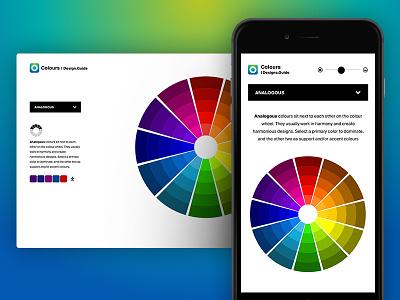 Colour Wheel resource user interface design