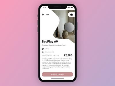 Bang & Olufsen app Design