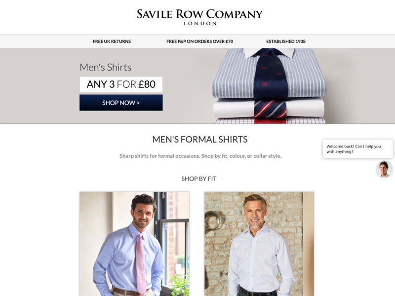 Savile Row Company | Landing Page lead page lead generation cro landing page landing design