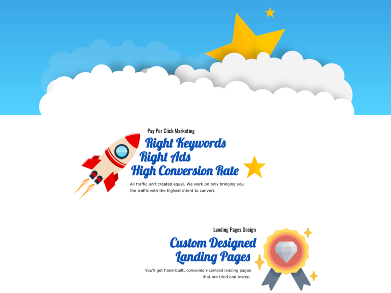 Conversion Stars | Landing Page lead page lead generation landing page landing design cro