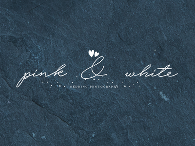 Pink & White Wedding photography logo