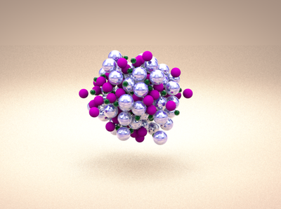 Playing with bubbles and Cinema 4d