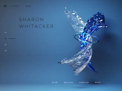 Abstract Web Header