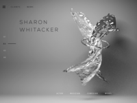 Black and white abstract web site header