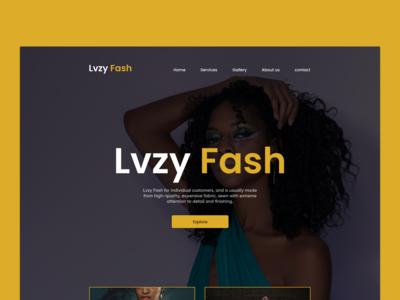 Lvzy Fash Landing page design