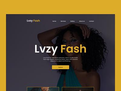 Lvzy Fash Landing page design fashion landing page landingpage web design webdesign ui  ux ui product design