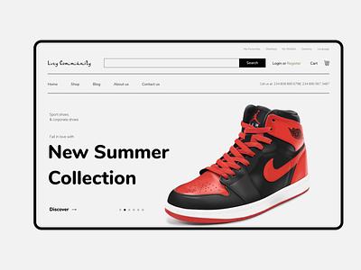 Lvzy Community Home ecommerce webdesign ux ui  ux design ui product design