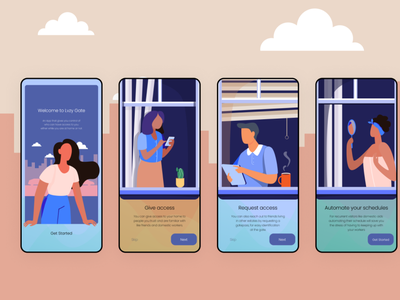 Onboarding screens for Gate pass App onboarding screen onboarding mobile app mobile design illustration ux ui  ux ui product design