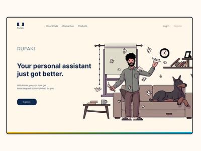 Landing page hero page landing page webdesign ui  ux ui design product design