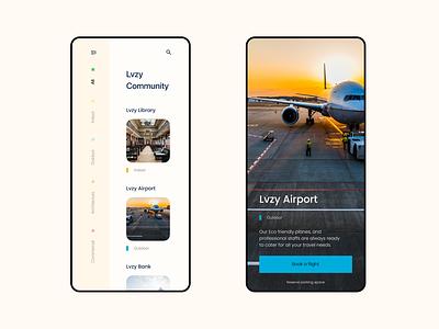 Lvzy Community app Design mobile app design ux ui  ux ui product design