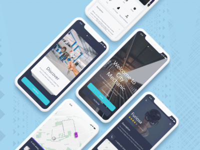 City mechanic app design
