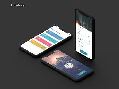 Hypnosis App product design ui  ux