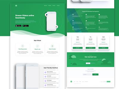 #DailyUi Landing page challenge ui product design