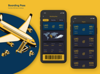 Day o24 of 100 Daily Ui challenge - Boarding pass design