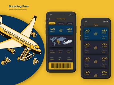 Day o24 of 100 Daily Ui challenge - Boarding pass design ux ui  ux daily 100 challenge ui design product design daily ui dailyui daily