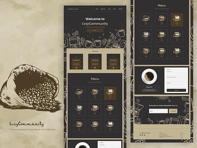 Lvzycommunity Coffee shop website design doddle ui  ux ux illustration design ui product design website concept website design webdesign website