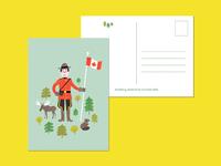 Mountie Postcard