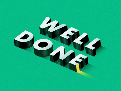 Well Done 3d lettering