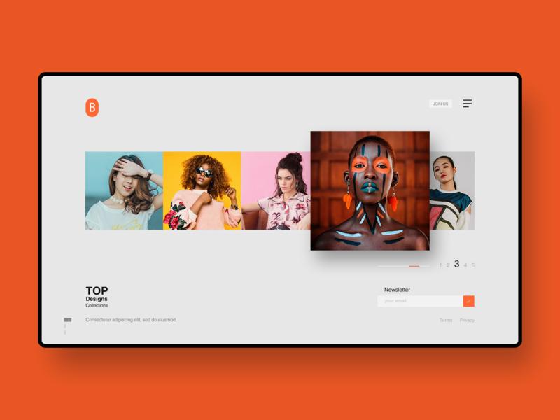 Minimal web design vector character identity mobile illustration brand web art typography ios app flat ux ui clean branding webdesign layout minimal design