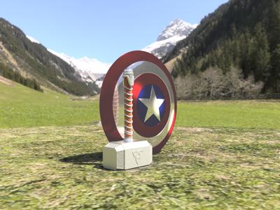 C.America Shield & Mjolnir