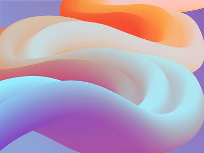 Cloud Slides colorful 3d gradient web app vector illustration ux ui