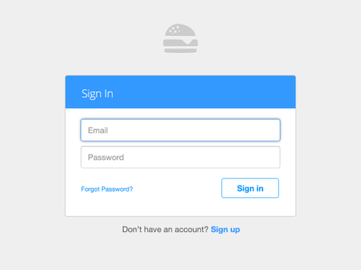 Feedbin Login ui ux design sign in feedbin blue form