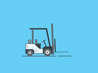 Forklift Illustration vector blue forklift illustration