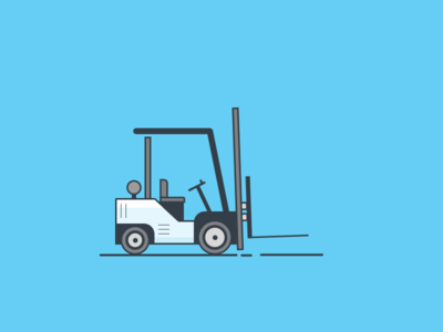 Forklift Illustration vector blue forklift illustration