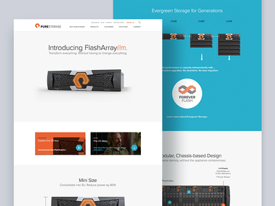 Pure Storage design web website