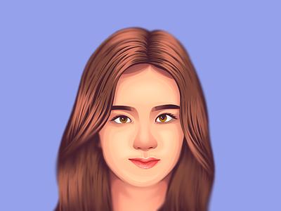 Kim Jisoo Blackpink vector illustration illustration vector art vector purple vexel vexel art vexelart blackpink jisoo