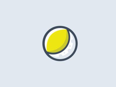 lemoon minimalist moon lemon logo design illustration